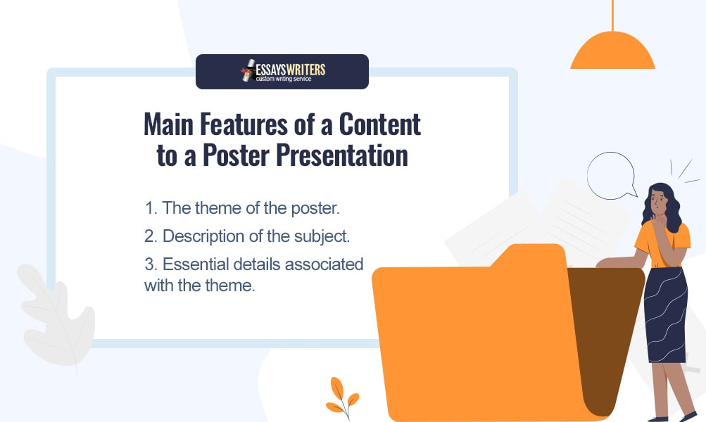 3 Main Features of a Content to the Poster Presentation