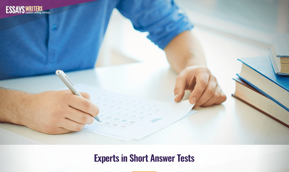 Experts in Short Answer Tests
