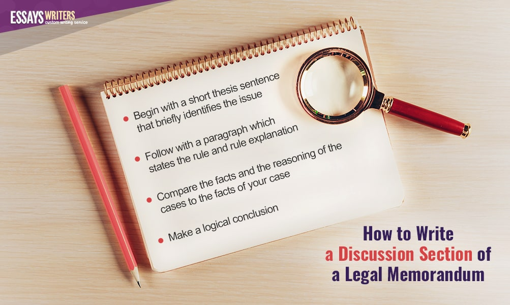 How to Write a Discussion Section of a Legal Memorandum
