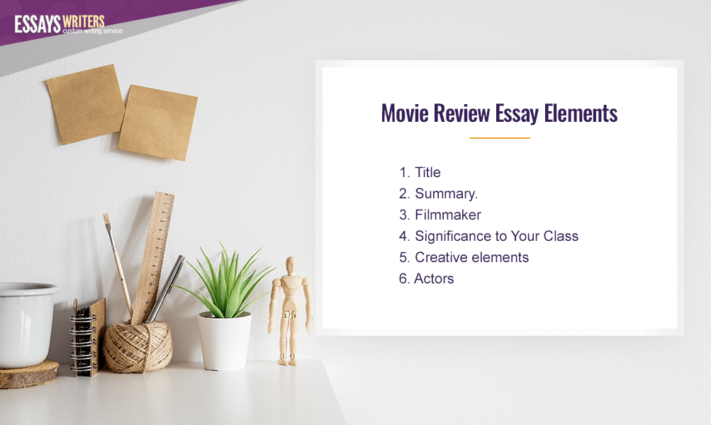 Movie Review Essay Elements